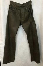 diesel Leather Pants Men's Brown Straight Leg Butterfly Size 32