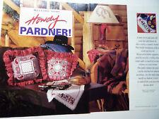 Bandanna & cowboy counted cross stitch pattern- Oop Cross Stitch & Needlework