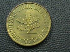 WEST GERMANY  10 Pfennig  1979  -  G UNC  ,   $ 2.99  Maximum  shipping  in  USA