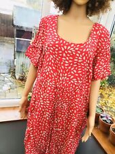 Anne Harvey plus size 20 Summer dress red t20