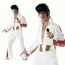 Rock & Roll King Elvis Presley Jumpsuit Halloween Fancy Dress Cosplay Costume
