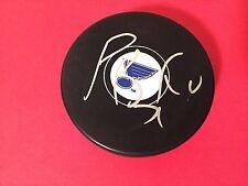 Patrik Berglund Blues Hockey Signed Auto Puck Holder COA