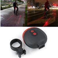 Cycling Flashing 2 Laser +5 LED Lamp Light Rear Bicycle Bike Tail Safety Warning