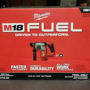 "Milwaukee M18 Fuel 1"" SDS Plus Rotary Hammer 2712-20 Brand New"