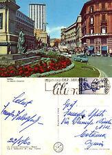 Cartolina da Collezione Napoli Via Medina e Grattacielo Viaggiata anno 1960