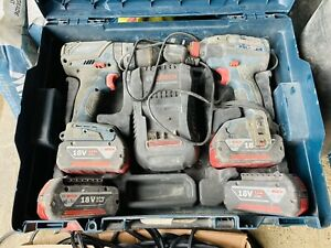 Bosch Professional 18V Cordless Drill Kit 4 Batteries And Charger