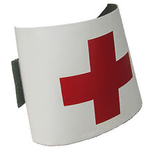 Military Medic Red Cross Arm Band - Reversible with Hook and Loop