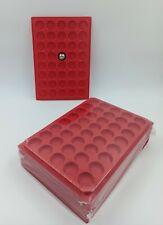 LOT 10 BOX - PLATEAUX DE RANGEMENT EN PLASTIQUE POUR CAPSULES 40 CASES RONDES!
