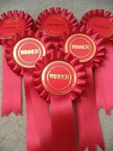 Winner Rosettes - Red