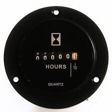 120 VAC Round surface mount hour meter