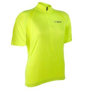 Netti Breeze Womens High-Visibility Cycling Jersey - Fluro Yellow