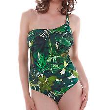 Fantasie Swimwear Kuranda Underwired Asymmetric Swimsuit Deep Jungle 6130 NEW