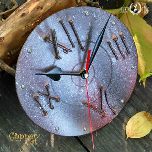 Designer Wall Clock Steampunk Grunge clock design Vinyl Art Unique Single copy