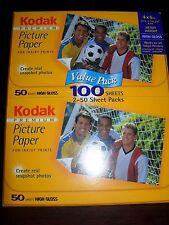 "97 - KODAK PREMIUM Picture Paper High Gloss for 4"" x 6"" photos-Open"