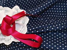 Navy Blue & White 2mm Dot Spot Fine Cotton Dress Fabric-145cm X per 1/2 Metre