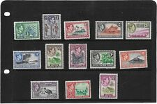 BRITISH SOLOMON ISLANDS 1939 PICTORIAL SET SG.60-72 LIGHTLY MOUNTED MINT