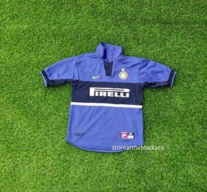 INTER MILAN Internazionale 1998 1999 AWAY FOOTBALL SOCCER SHIRT JERSEY NIKE BOYS