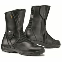 Sidi Gavia GTX Gore-Tex Leather Waterproof Touring Motorcycle Bike Boots - Black
