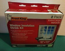 "Ex-Large Indoor Window Insulation Shrink Kit Frost King 62"" x 210"" V75/2  2 Pack"
