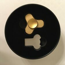 Nobu Customs Mini Fidget Spinner Gold Anodized Metal tri-wing removable r188