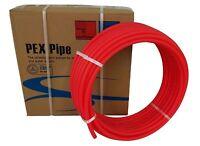 "1/2"" x 500ft Pex Tubing Oxygen Barrier EVOH Pex-B Red 500 ft Radiant Floor Heat"