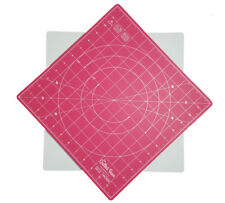 "Quilted Bear 360° Rotating Self Healing Cutting Mat 12"" x 12"" (inches) in Pink"