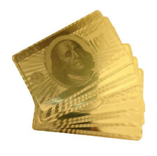 Trademark Poker 24K Gold Playing Cards, Full Deck with Jokers
