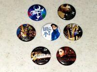7 Prince Buttons Button 1 inch Pin Pins Badge Mini Album LP Vinyl Replica LOT D