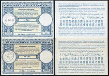SWEDEN REPLY PAID COUPONS IRCs 1953 + 1964 60 ore + 75 ore VERY FINE + CLEAN