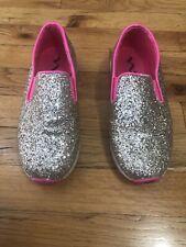 Girls Nina Slip On Gold Glitter Sneakers Sz 3