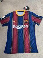 2020-2021 Barcelona Vaporknit Match Jersey Messi #10 Size Large