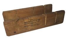 Vintage Amsco Rock Maple Mitre Box - Rare - Made In USA 🇺🇸