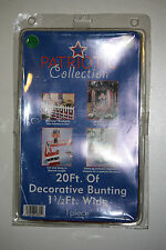 Patriotic Collection - Us Flag Decorative Bunting Banner Runner 20 ft - Nib