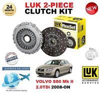 FOR VOLVO S80 II 2.0 TDi 136 BHP 2008-ON CLUTCH KIT LUK 2 PIECE EO QUALITY