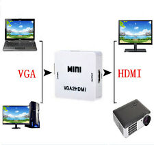 VGA to HDMI Full HD Video 1080P Audio Converter Box Adapter for PC Laptop DVD TV