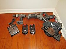 Porter Cable 18 Volt 3 tool Cordless Tool Battery Combo Set