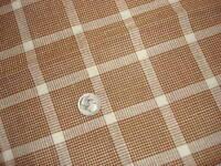Cotton Fabric PLAID Brown & White 4-Pieces