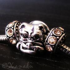 British Bulldog Large Hole Bead For European Charm Bracelets And Necklaces