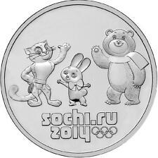 RUSIA RUSSIA 2012. 25 RUBLOS UNC SC SELLADA. SOCHI 2014 - MASCOTAS