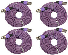 4PACK 50ft foot shielded XLR Male to Female audio mic microphone extension cable