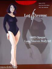 Leg Avenue140D Opague Long Sleeves Red Bodysuit One Size