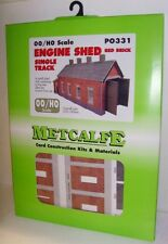 Metcalfe PO331 Red Brick Single Track Engine Shed 00 Gauge