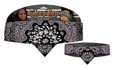 Chop Top Pink Reversed Paisley w/ Rhinestones Doo Rag Head Wrap Stocking Stuffer