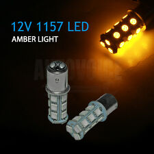 AMBER YELLOW 1157 BAY15D 18SMD LED Car Indicator Signal Stop Tail Light Bulb 12V