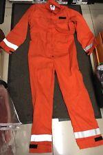New Mens Hi Visibility Flame Resistant Orange Boiler Suit/ Coveralls Size 2XL