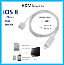 Extra Long 1.8M 30 Pin Dock To  HDMI TV Cable Adapter For Apple iPhone 4/4s