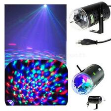 Funny 3D Rotating RGB LED Effect DJ Disco Bar Club Stage Light Party Lamp colors