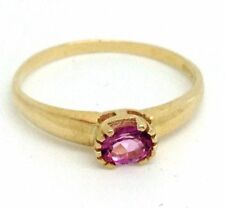 Heating Solitaire Yellow Gold Fine Rings