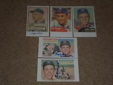 LOT OF (9) SIGNED AUTOGRAPHED CUSTOM MADE INDEX CARDS WITH VINTAGE STARS!