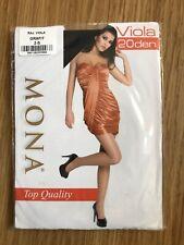 """Mona"" Viola Top Quality 20 Denier Grey Tights, Size 2 (UK Small)"